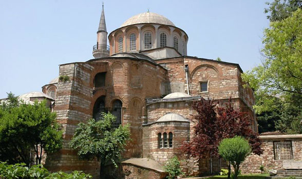 Exterior of the Byzantine Church of St. Savior in Chora